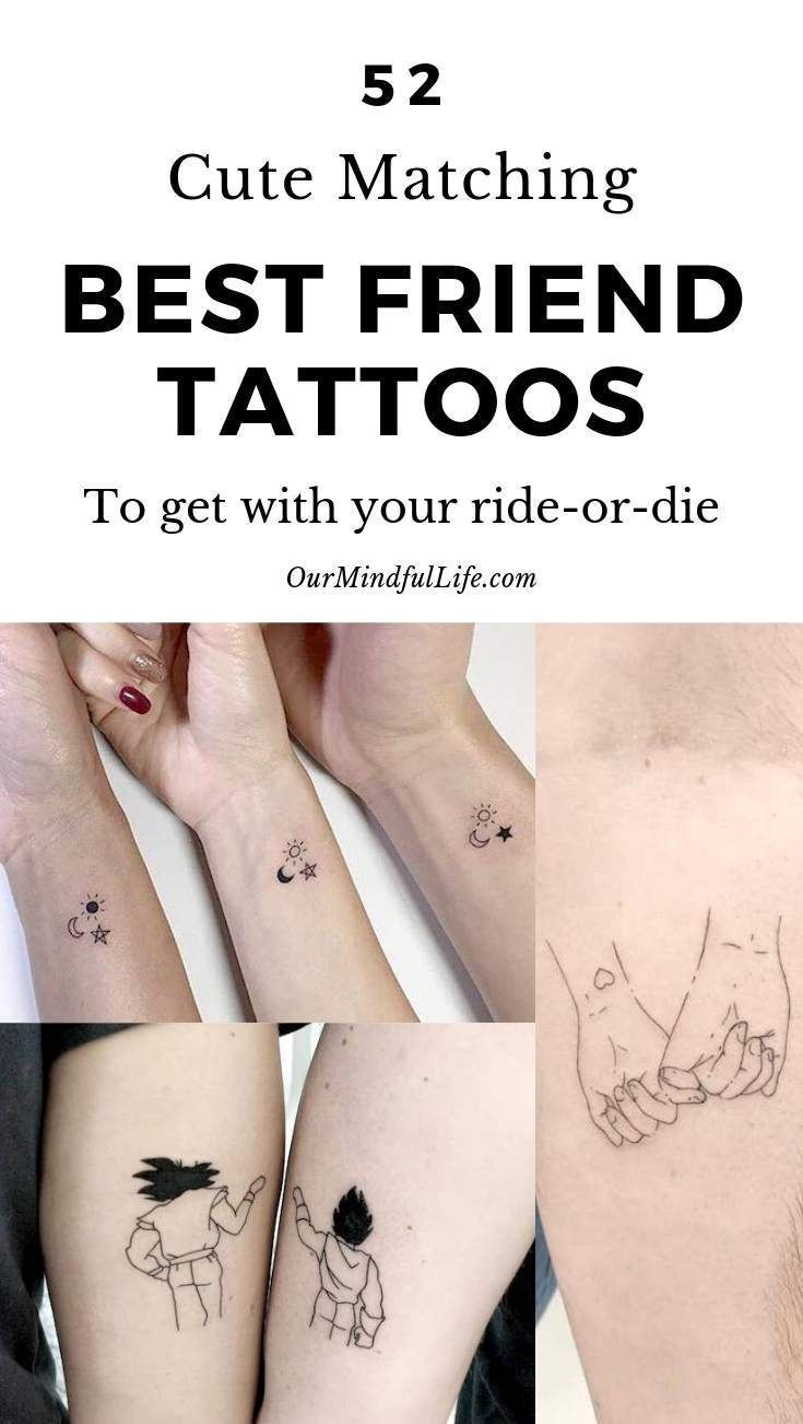 52 Adorable Matching Best Friend Tattoos To Get With Your Ride-or-die
