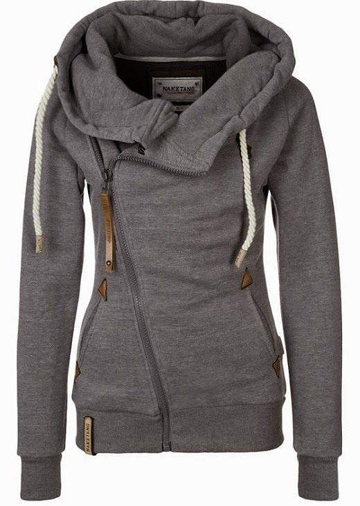 The Vogue Fashion: Naketano Side Zip Gray Hoodie