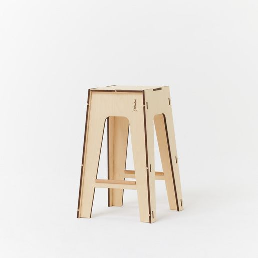 Unique Stackable Designer Kitchen Stools Made In Italy From 100% European  Sustainable Birch Ply Wood