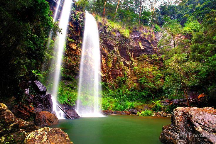 Twin Falls, Springbrook, Queensland  #Falls #Springbrook #Queensland #Australia