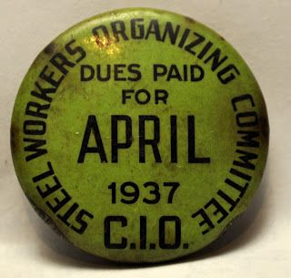 Labor Union Buttons: Steel Workers Organizing Committee