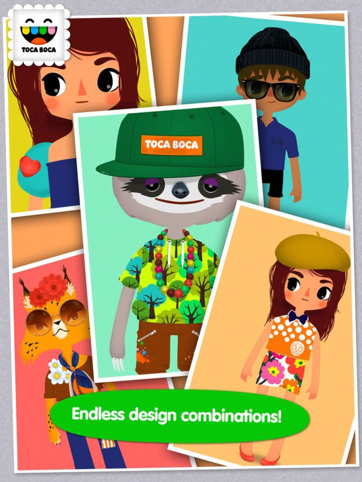 Toca Tailor App by Toca Boca AB. Kids Game Apps.