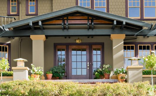 24 best paint colors for bungalow images on pinterest for Craftsman exterior color schemes