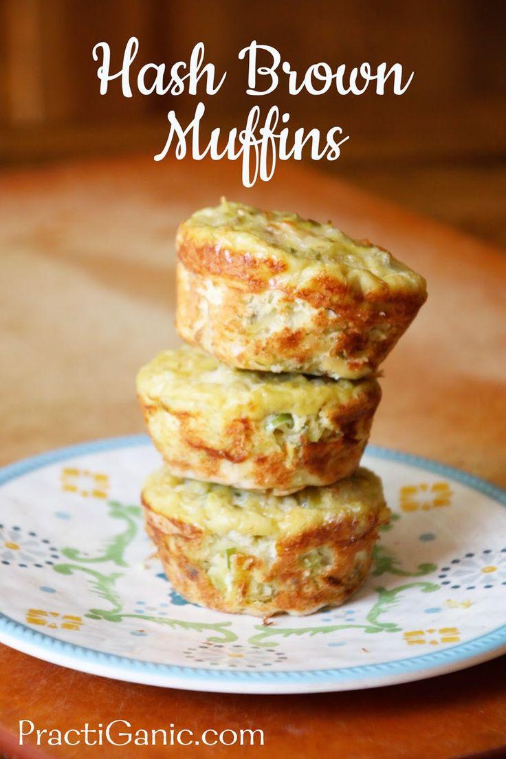 Easy Cheesy Hash Brown Muffins  #glutenfree, #muffins