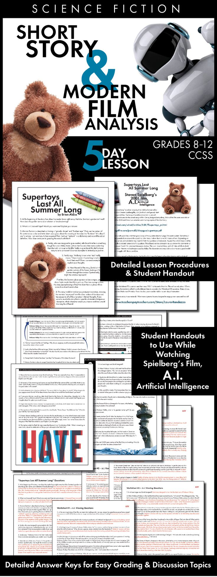 """Teach your students how to """"read"""" a movie in just the same way that we closely read literature with this five-day lesson. Click HERE for print-and-teach materials."""
