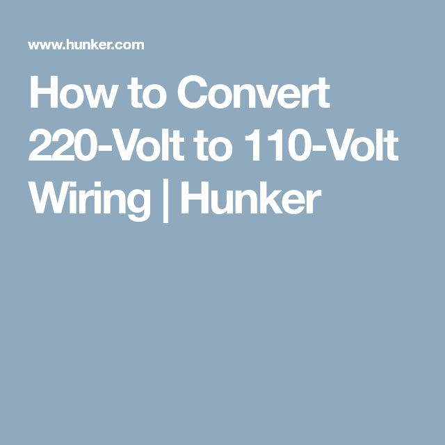 How To Wire A Amp Outlet Hunker >> How To Convert 220 Volt To 110 Volt Wiring Home Electrical Wire