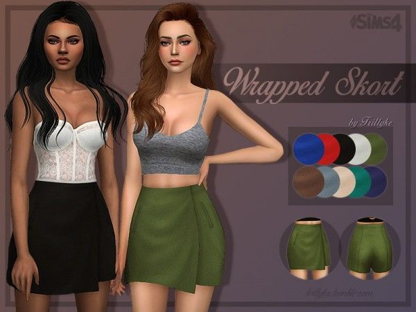 Trillyke: Wrapped Skirt • Sims 4 Downloads