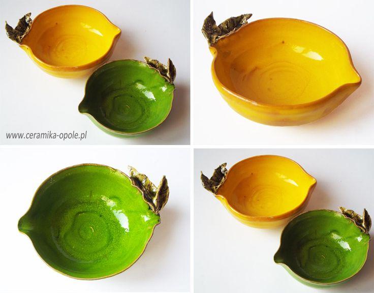 lemon ceramic bowl