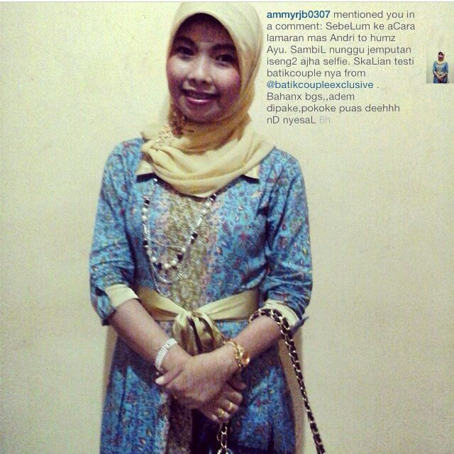 Dengan blouse muslim MEDELLINE custome