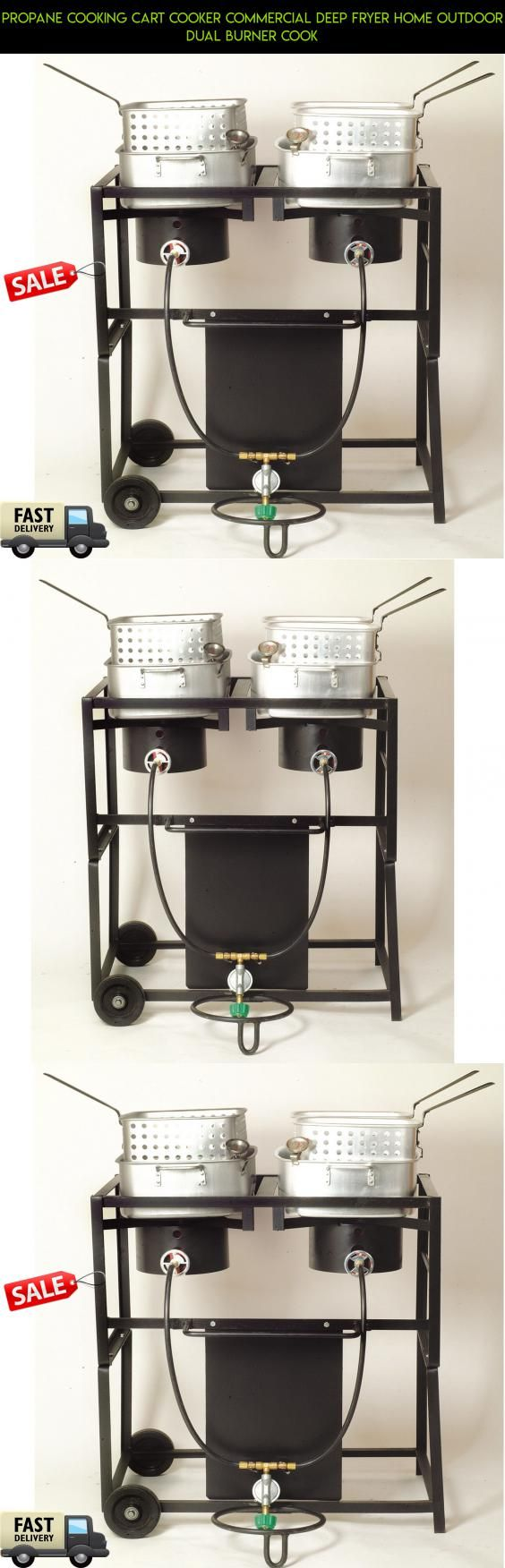 Propane Cooking Cart Cooker Commercial Deep Fryer Home Outdoor Dual Burner Cook #shopping #cart #gadgets #camera #drone #cooking #outdoor #parts #products #fpv #plans #tech #technology #racing #kit
