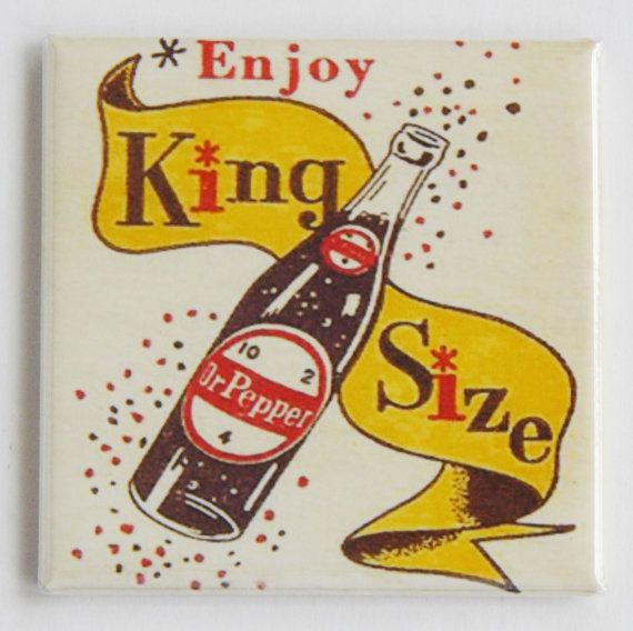 KIng Size Dr. Pepper Fridge Magnet