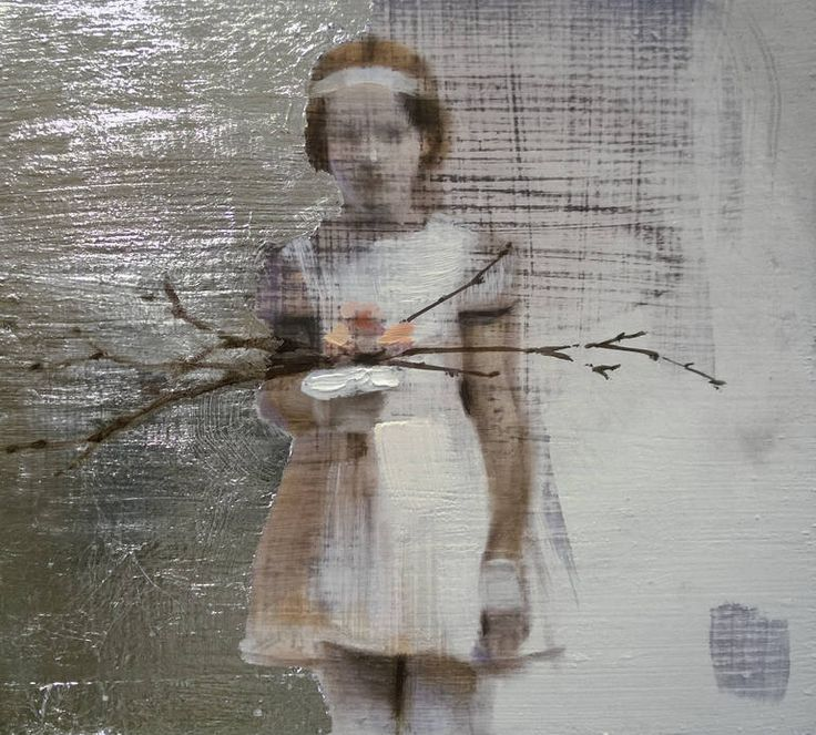 """v i a t o n ( innocent)"", original figurative painting by artist Silja Selonen 