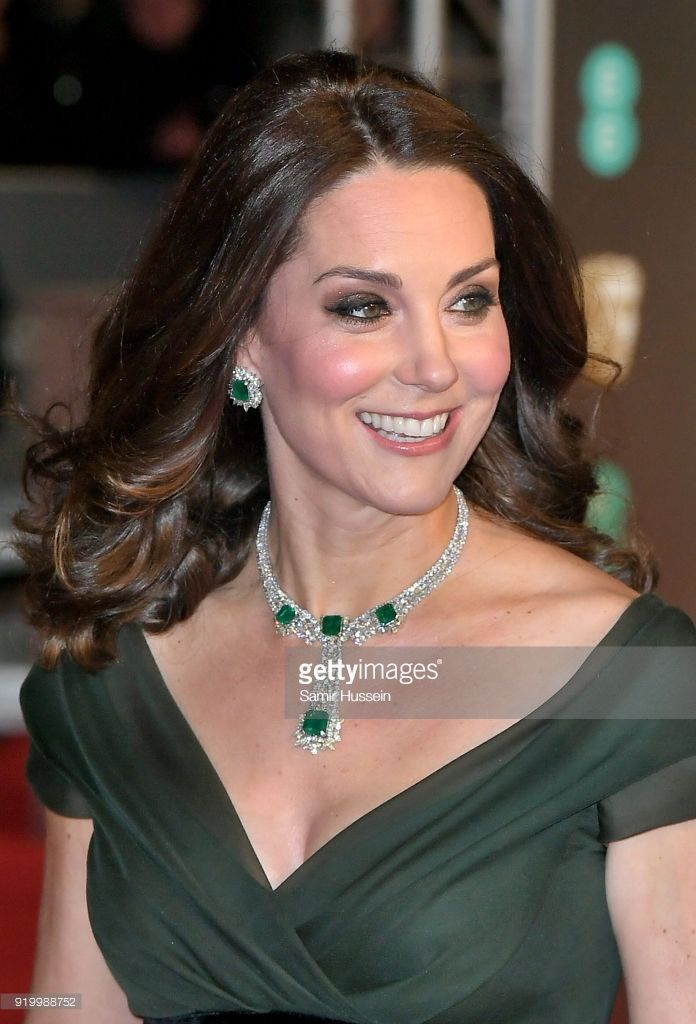 Catherine, Duchess of Cambridge attends the EE British Academy Film Awards (BAFTAs) held at Royal Albert Hall on February 18, 2018 in London, England. (Photo by Samir Hussein/Samir Hussein/WireImage)