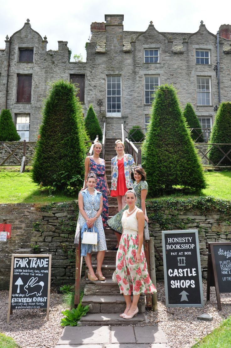 Love this image of Hay Castle with the Hay Does Vintage models styled by Kate Sly of Fashion Farmer