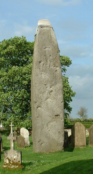 The Rudston monolith, East Yorkshire, is the tallest prehistoric standing stone in Britain.