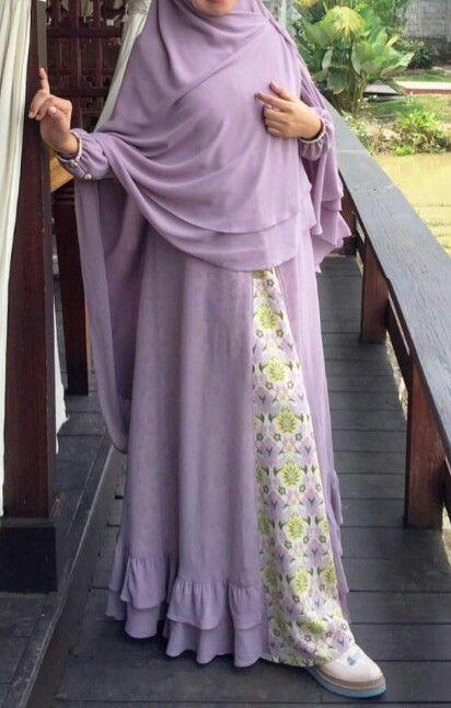Purple pastel gamia syar'i