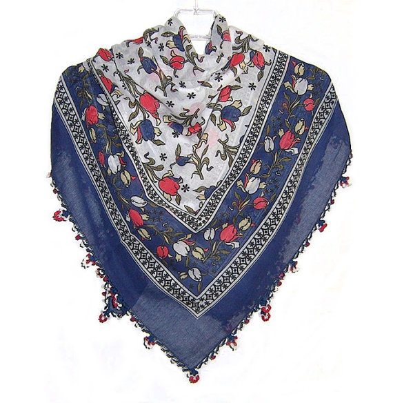 Traditional Turkish Yemeni Cotton Scarf With Lace by naryaboutique, $28.00