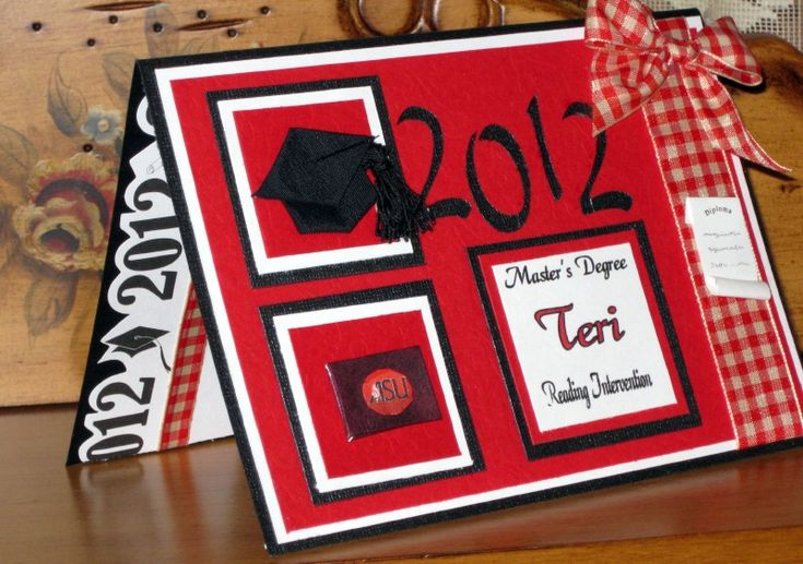 Graduation card for a masters degree graduation cards