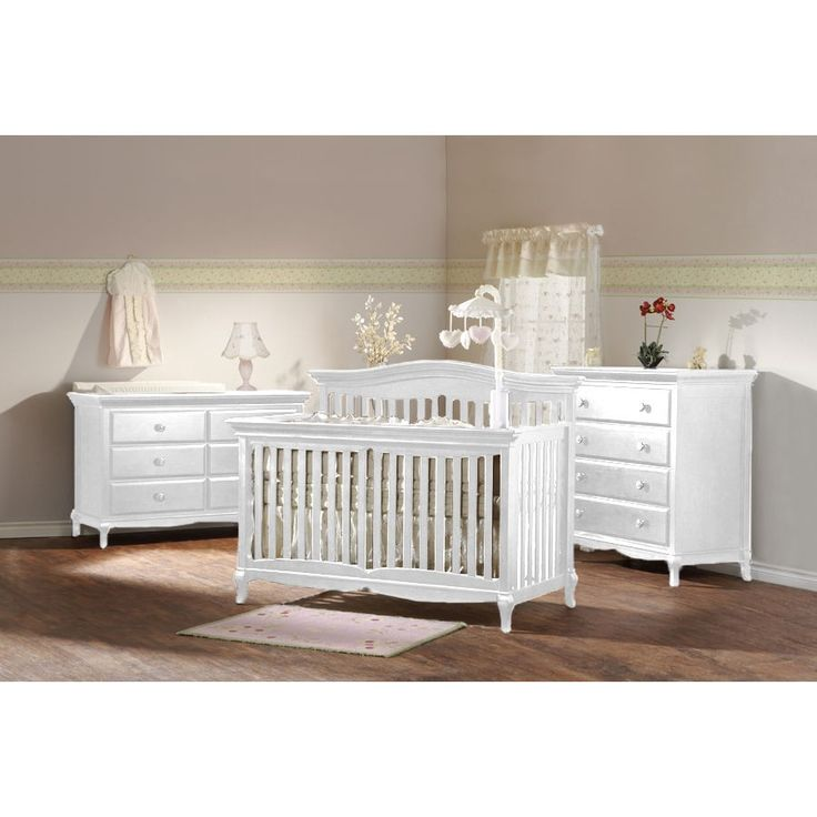 Pali Mantova 4 In 1 Forever Convertible Crib Nursery Set In White 1000 Wh 1006 Wh Nursery Furniture Sets Convertible Crib Sets White Baby Furniture