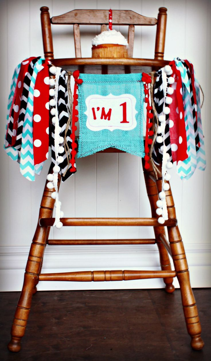 DR SEUSS Thing 1 Thing 2 Cat In the Hat Birthday Age High Chair Highchair Birthday Banner/Party/Photo Prop/Bunting/Backdrop/Red Black Aqua by RawEdgeSewingCo on Etsy https://www.etsy.com/listing/214721145/dr-seuss-thing-1-thing-2-cat-in-the-hat