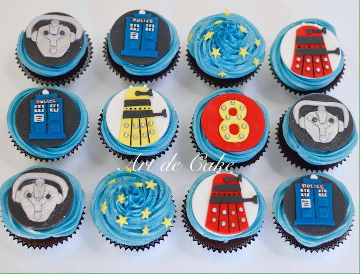 Dr Who themed cupcakes by Art de Cake check these out!