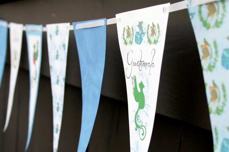 Guatemala Independence Day | 15 de Septiembre Paper Banner by Denna's ideas #FreeDownload #Craft #IndependenceDay