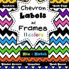Editable Chevron Labels Type and Print
