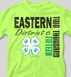 IZA DESIGN 4H tshirts.  4-H Club Shirts - Harvard desn-54m4.  Specializing in custom 4H shirts since 1987!