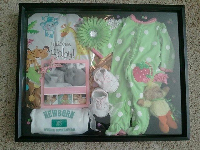 newborn baby shadowbox