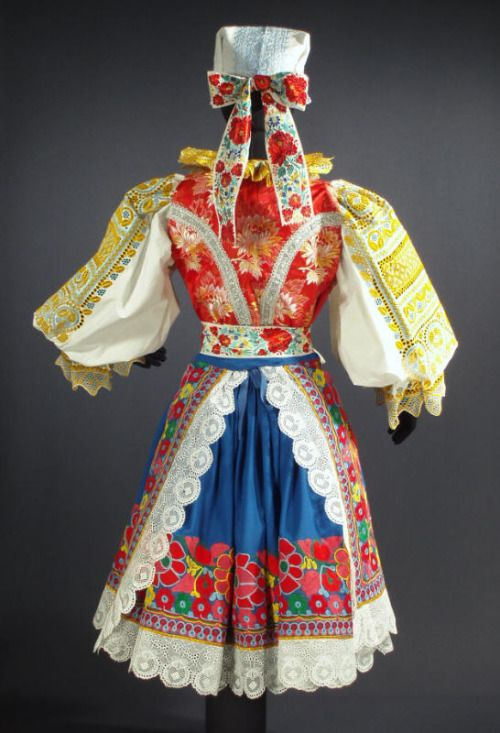 Parts of folk costume in Krakovany, Slovakia