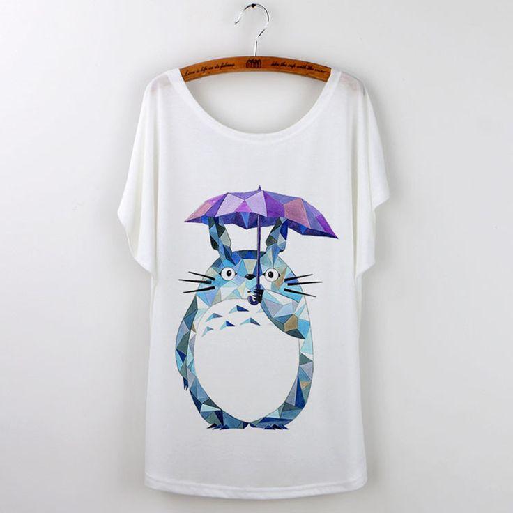 Totoro Art T-Shirts For Women 2016