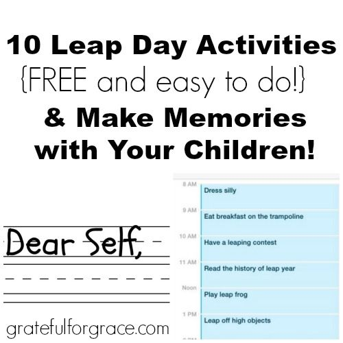10 Free & Easy Leap Day Activities for 2016 — Grateful for Grace