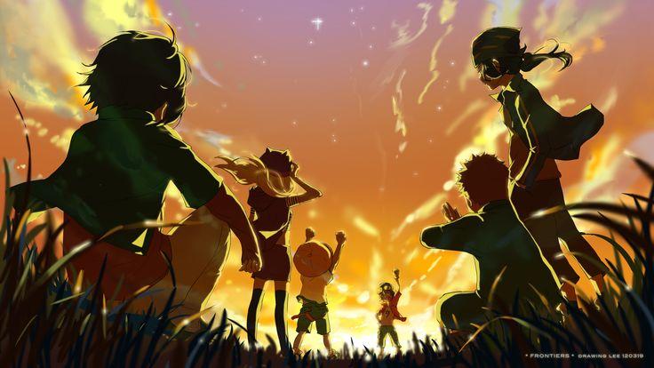 Digimon Frontier - Takuya, Izumi, Tomoki, Kouichi, Junpei & Kouji