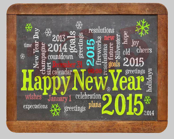 Happy New Year Black Board 2015