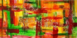 www.dorothea-mahlendorf-gallerie, Freestyle-Transparent. Acrylcollage mit Alufolie auf Leinwand, Format 70x140 cm.