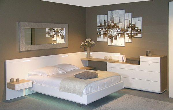 lit murano célio laqué blanc