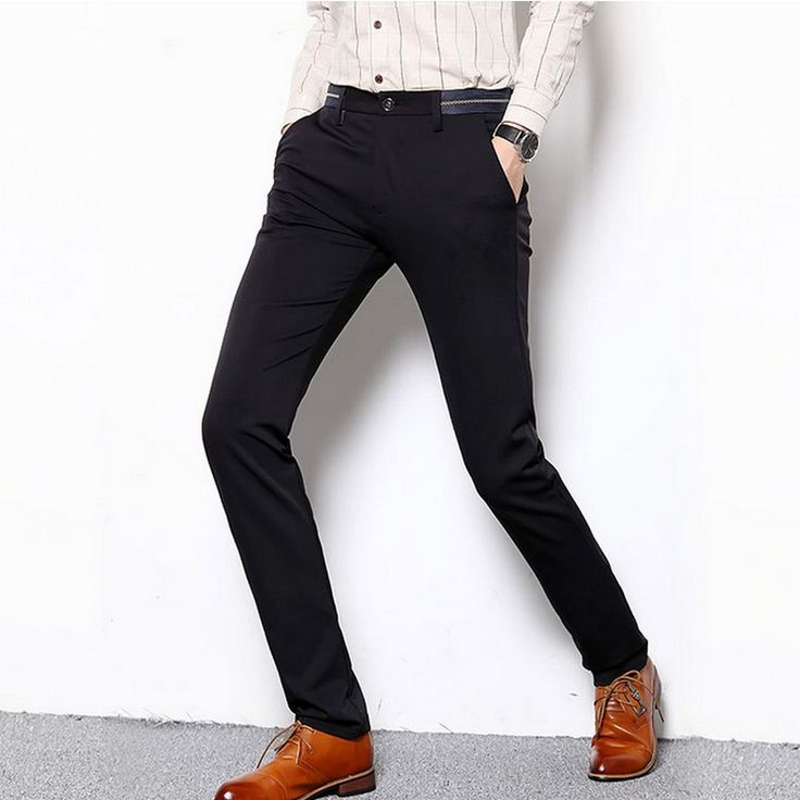 Patchwork New Style All-match Suit Pants Fashion Wedding Party Leisure Slim Fit Dress Pants for Men