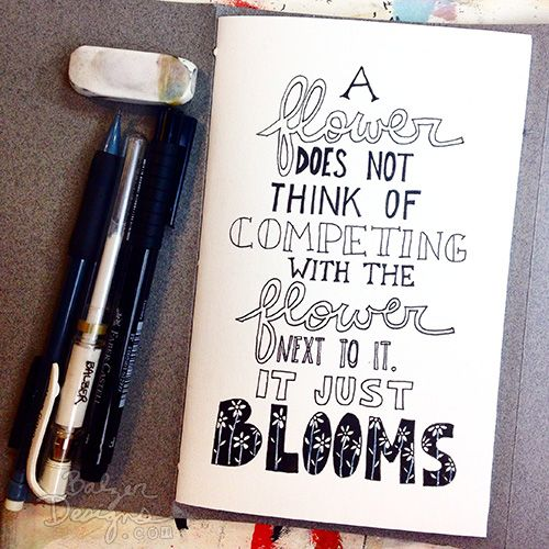 Balzer - Inktober drawing challenge - great quotes and lettering.