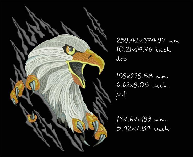 Белоголовый орлан, дизайн машинной вышивки, моментальное скачивание by Tamarladesign on Etsy