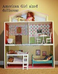 Let Kids Create: American Girl Dollhouse {Ikea hack}
