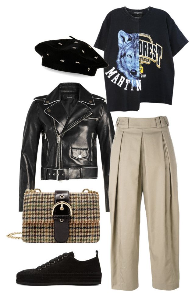 """""""Untitled #783"""" by szudi on Polyvore featuring Theory, Alexander Wang, Steve Madden and Ann Demeulemeester"""