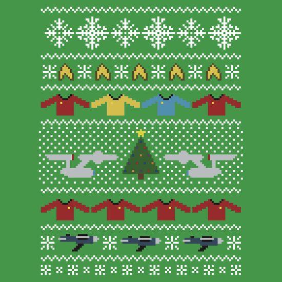 star trek ugly christmas sweater card by rydiachacha