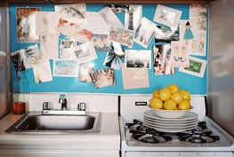 kitchen: Ideas, Tiny Kitchens, Small Kitchens, Inspiration Boards, Corks Boards, Small Spaces, Electric Blue, Kitchens Photos, Lonny Magazine