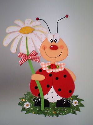Fensterbild Käferglück Frühling -Küche-Dekoration - Tonkarton!