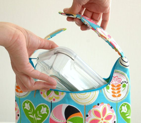 Insulated Lunch Bag Girls Lunch Bag Lunch Tote by LeLaStudio