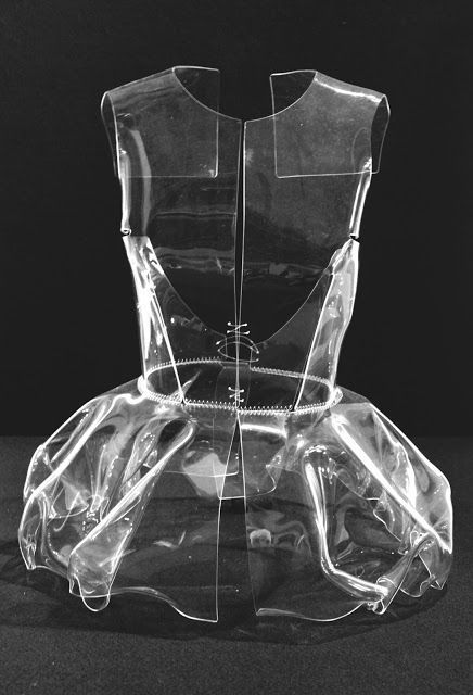 Clear Plastic Dress - fashion armour; transparency; sculptural fashion // Vaillo + Irigaray