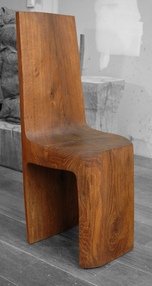 chair carved from a log | Found on behance.net