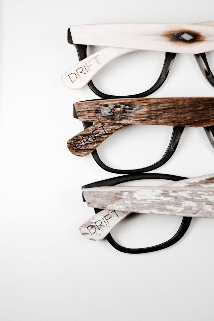 Drift Eyewear. Eco-friendly wood temples.