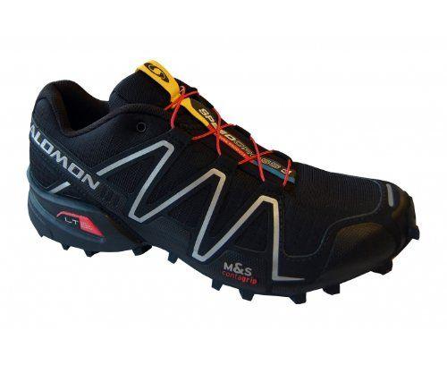 Salomon Men's Speedcross 3 Trail Running Shoe,Black/Black/Silver Metallic-X