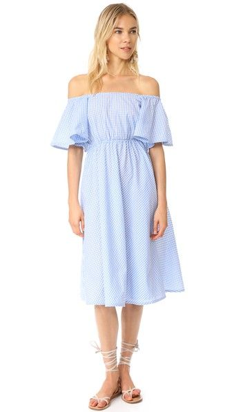 ¡Consigue este tipo de vestido informal de STYLEKEEPERS ahora! Haz clic para ver los detalles. Envíos gratis a toda España. STYLEKEEPERS Daisy Chains Dress: This charming, gingham STYLEKEEPERS dress has a square, off-shoulder neckline. Covered elastic cinches the waist, accentuating the flounced skirt. Short flutter sleeves. Unlined. Fabric: Shirting. 100% cotton. Wash cold or dry clean. Imported, China. Measurements Length: 40.5in / 103cm, from shoulder Measurements from size S (vestido…